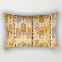 Southwest Contemporary Feathers Rectangular Pillow