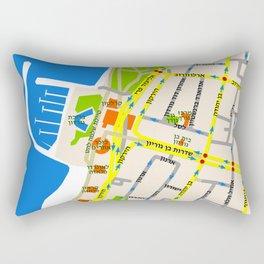 Tel Aviv Map - Gordon beach Rectangular Pillow