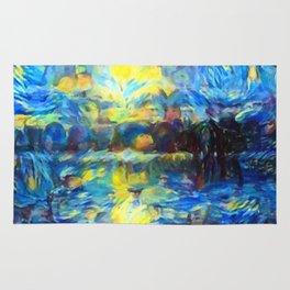 van Gogh Tribute: Sunrise Rug