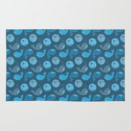 Whirly Whales Rug