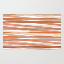 Fall Orange brown Neutral stripes Minimalist Rug