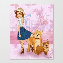 Woof La La Canvas Print