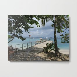 Caneel Bay Dock  Metal Print