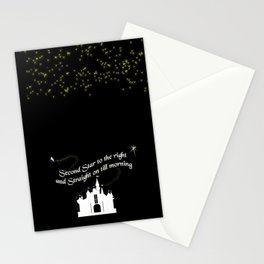 Tinkerbelle Peter Pan Second Star to the Right Stationery Cards