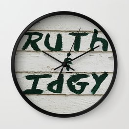 Ruth and Idgy 3 Wall Clock