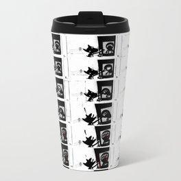PAW DOG - flipbook/flickbook print Metal Travel Mug