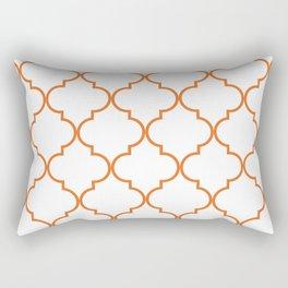 Quatrefoil - orange Rectangular Pillow