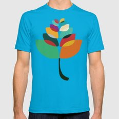 Lotus flower Teal SMALL Mens Fitted Tee