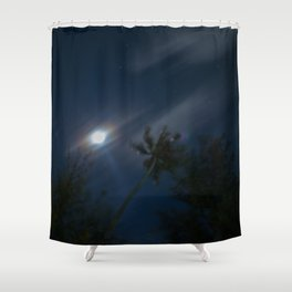 little paradise at night Shower Curtain