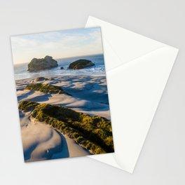 wharariki beach sunset sand dunes natural reserve Stationery Cards