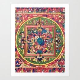 Mandala (Caricatures #1) Art Print