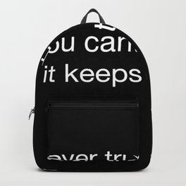 Harry P quote Backpack