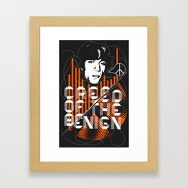 Creed of the Benign Framed Art Print