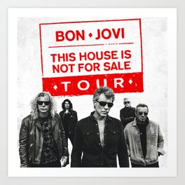 bon jovi this house not for sale tour 2019 basket Art Print