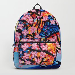 Paris Cherry Blossoms Backpack