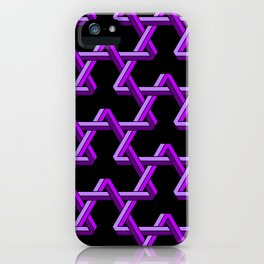 Impossible Purple Triangles iPhone Case