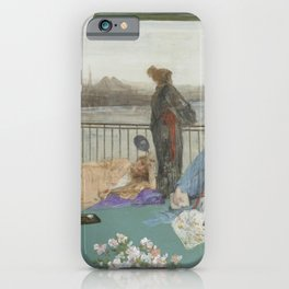 James Abbott McNeill Whistler - Variations in Flesh Colour and Green—The Balcony iPhone Case
