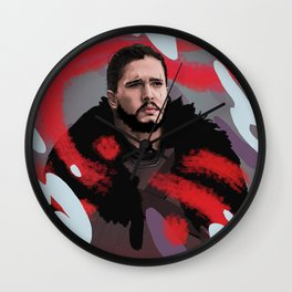 Protector of The Great Wall - Abstract Painting Wall Clock