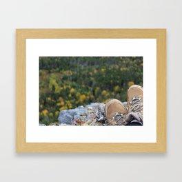 Hiking in the Fall  Framed Art Print