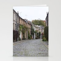 edinburgh Stationery Cards featuring Edinburgh street by RMK Creative