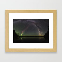 Milky Way and Steve Framed Art Print