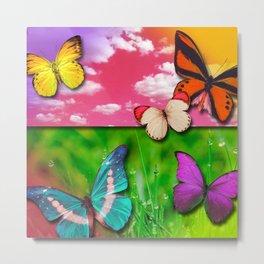 Colorful Butterflies & Beautiful Nature Metal Print