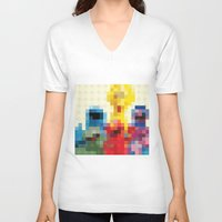 sesame street V-neck T-shirts featuring Sesame by Glen Gould