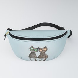 Two cute loving cats Fanny Pack
