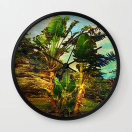 Traveller's Palm On Pic Pardis in Saint Martin Wall Clock