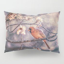 Northern Red Cardinal Spring Pillow Sham