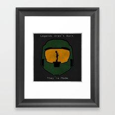 Halo - Master Chief Minimalistic Art  Framed Art Print