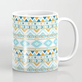 Orange andd Blue Boho Aztec Pattern Coffee Mug