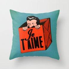 Peek-a-boo (I Love You) Throw Pillow