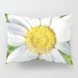 Radiant Daisy Watercolor Pillow Sham