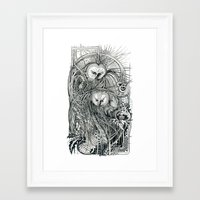 owls Framed Art Prints featuring Owls by Irina Vinnik