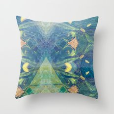 Deep Space Aphelionic Vegetation Surface Discovery Throw Pillow