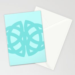 Celtic Knots in Teal Stationery Cards