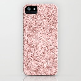 Modern abstract faux rose gold paper texture iPhone Case