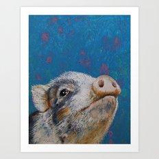 Baby Pig Art Print