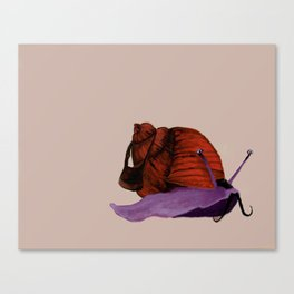 The Snail-Mailman Canvas Print