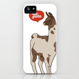 the llama me gusta! iPhone Case