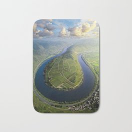 Incredible Mosel River Bend in Germany Bath Mat