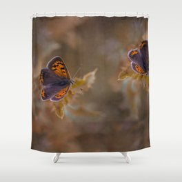 Small Copper butterfly Shower Curtain