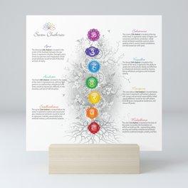 Seven Chakra Tree Art & Chart Mini Art Print