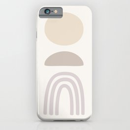 Mid century modern, abstract shapes in neutral tones. iPhone Case