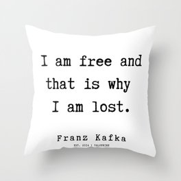 7   | Franz Kafka Quotes | 190909 Throw Pillow