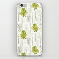 green pattern iPhone & iPod Skins featuring Green pattern  by LOLIA-LOVA