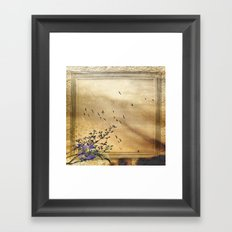 These are the days when birds come back Framed Art Print