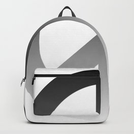 Black Fade CND Peace Symbol on White Backpack
