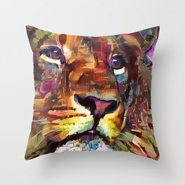 Colorful Lion Painting 2018 Throw Pillow